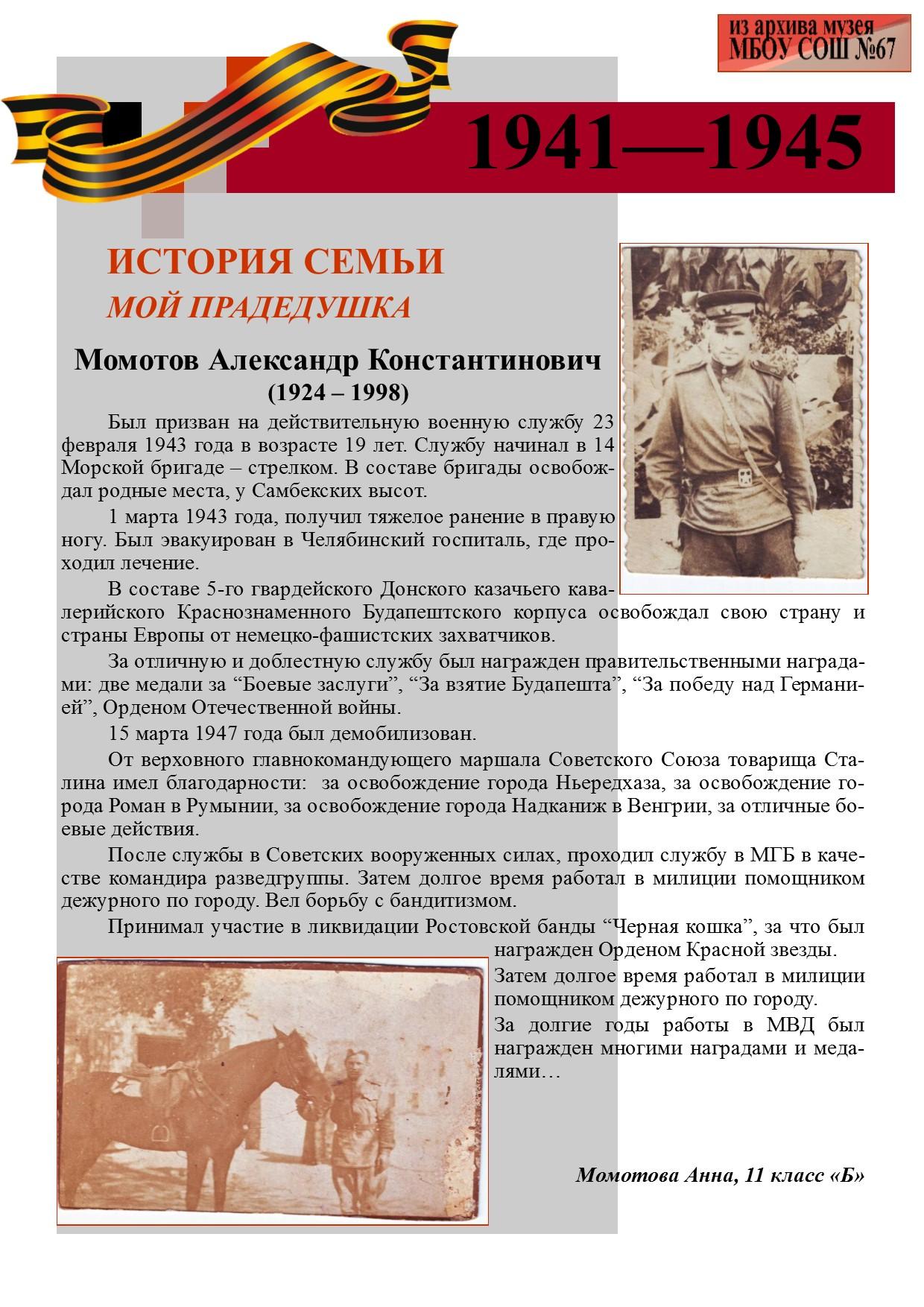 Моматов А.К.
