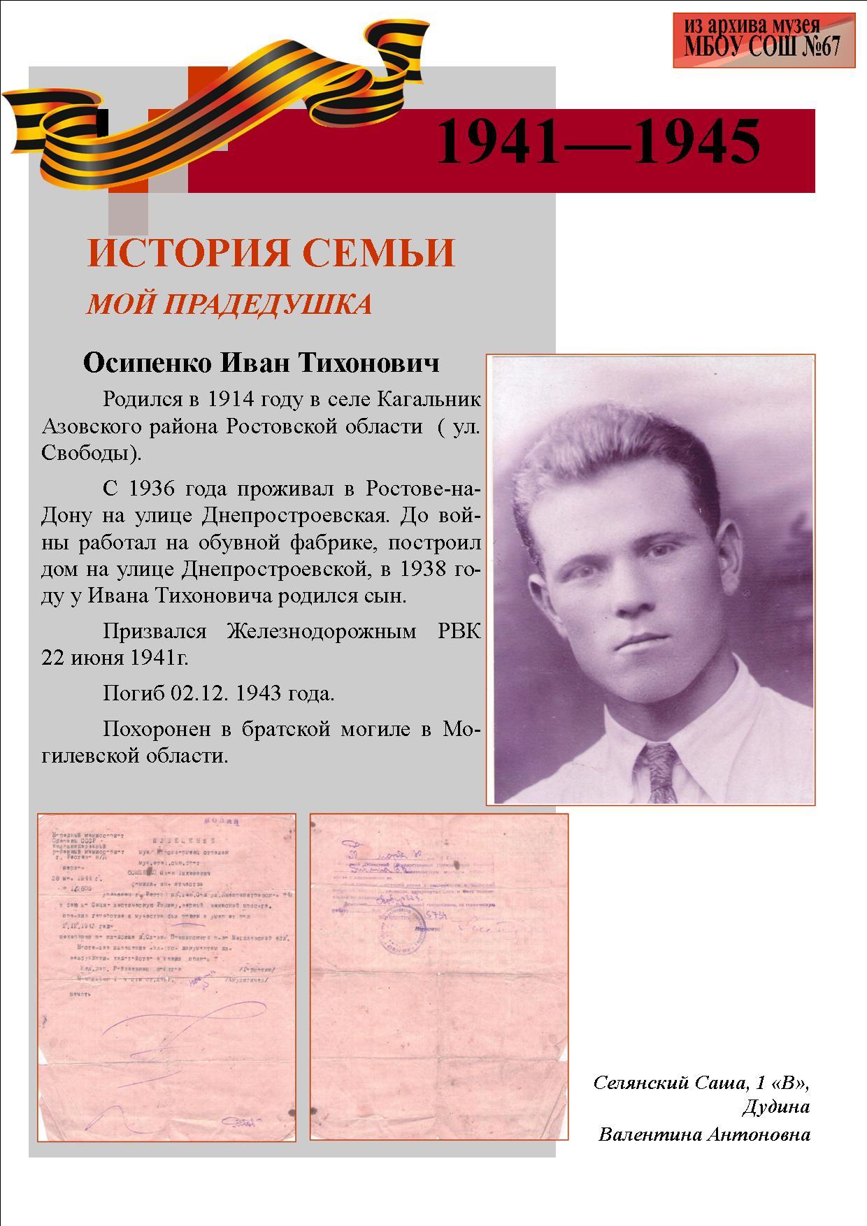 Осипенко Иван Тихонович